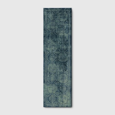 2'X7' Runner Overdyed Rug Turquoise - Threshold™