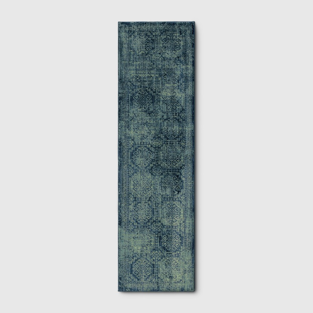 2'X7' Shapes Woven Accent Rugs Turquoise - Threshold