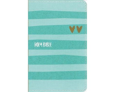 Holy Bible : New International Version, Turquoise/Gold, Flexcover, Backpack (Compact) (Paperback) - image 1 of 1