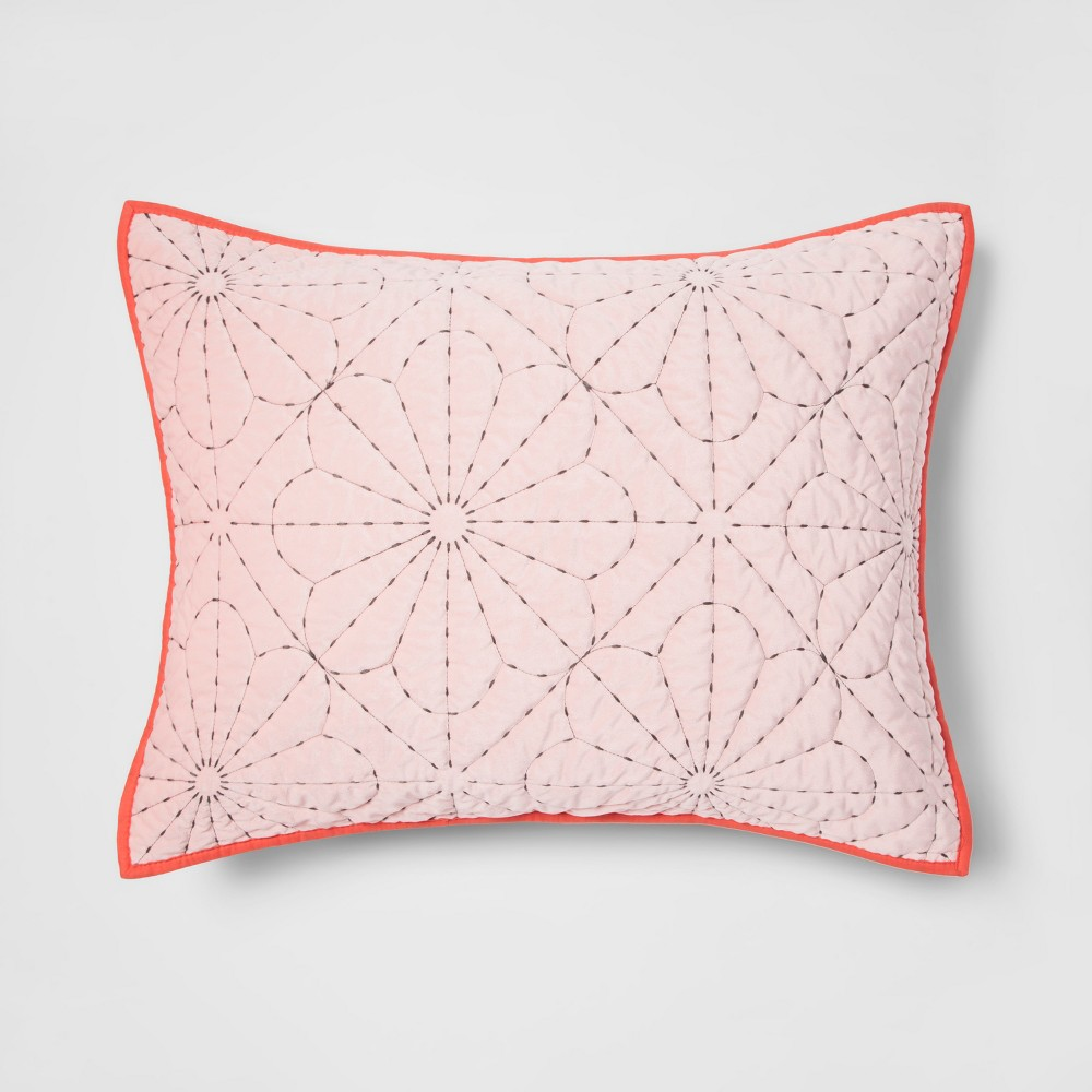 Velvet Stitch Sham Orange - Pillowfort