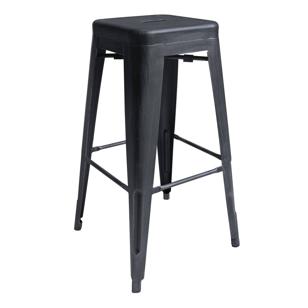 "Image of ""30"""" Faiyum Industrial Bar Height Backless Barstool Industrial Gray - Modern Home"""