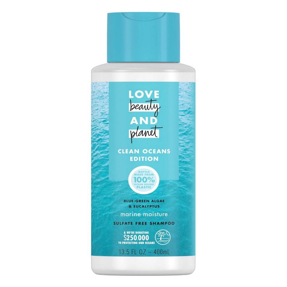 Image of Love Beauty and Planet Clean Ocean Blue Green Algae & Eucalyptus Shampoo - 13.5 fl oz