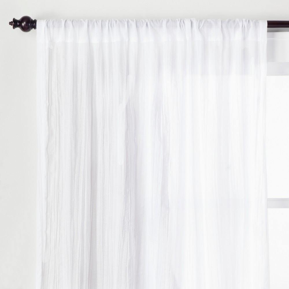 95 34 X42 34 Crushed Sheer Curtain Panel White Opalhouse 8482