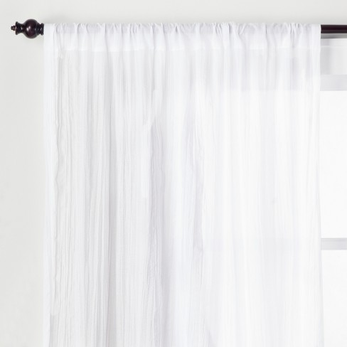 Crushed Sheer Curtain Panel - Opalhouse™ - image 1 of 4