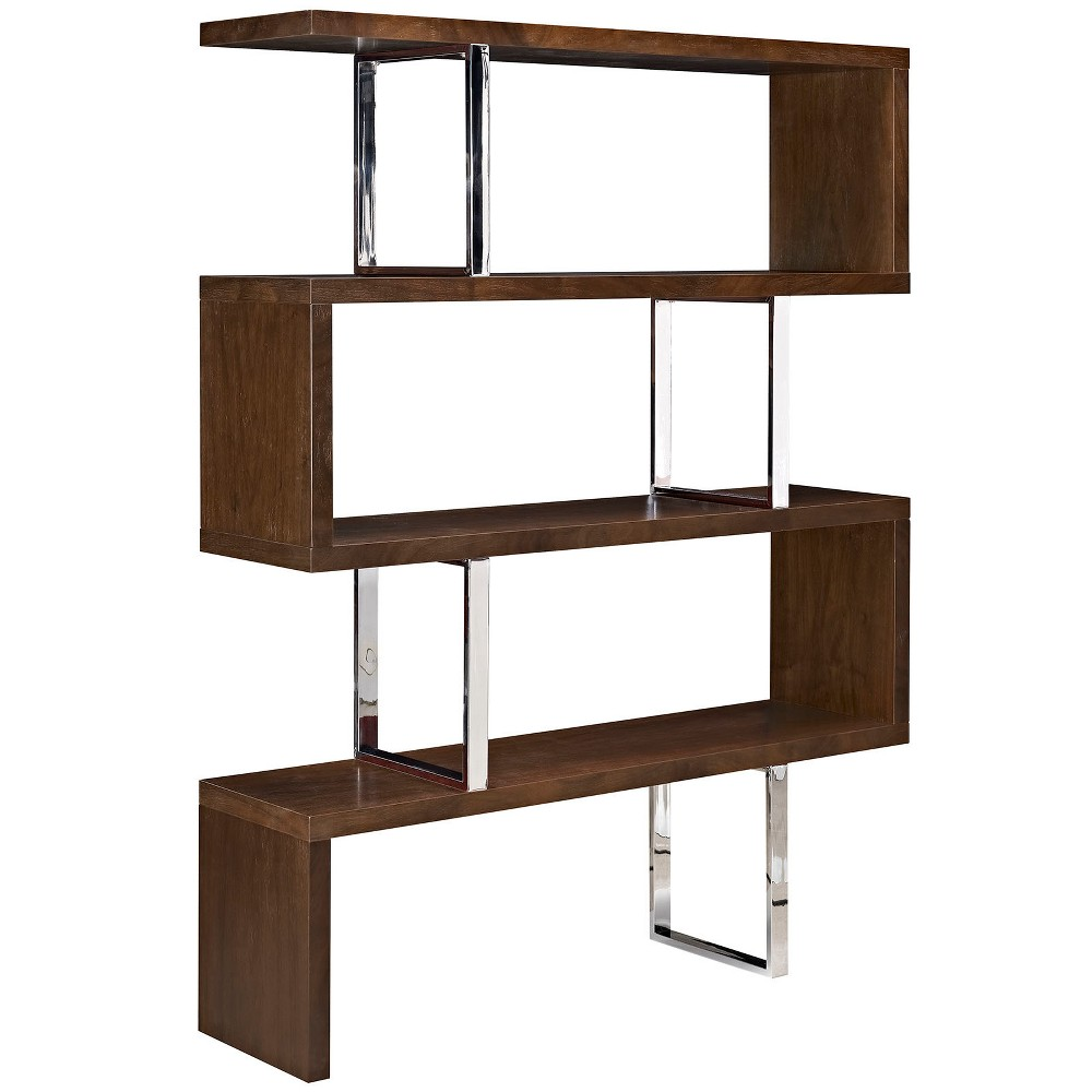 Meander Stand Walnut (Brown) - Modway