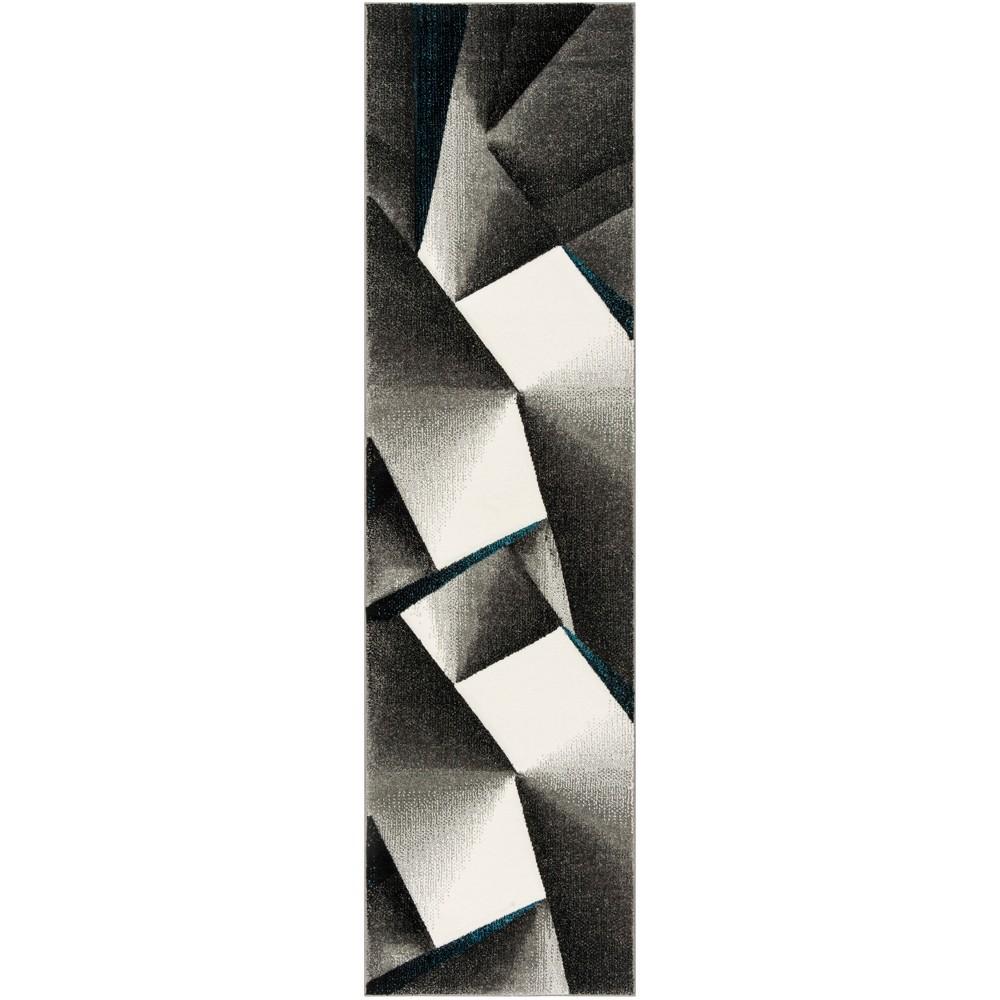22X8 Geometric Loomed Runner Gray/Teal - Safavieh Reviews