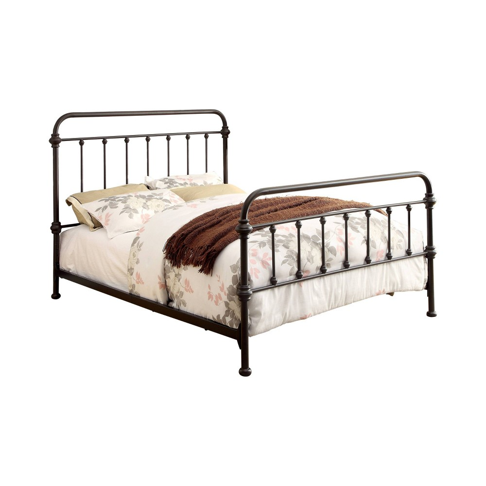 Full Effy Metal Bed Dark Bronze - Homes: Inside + Out, Brown