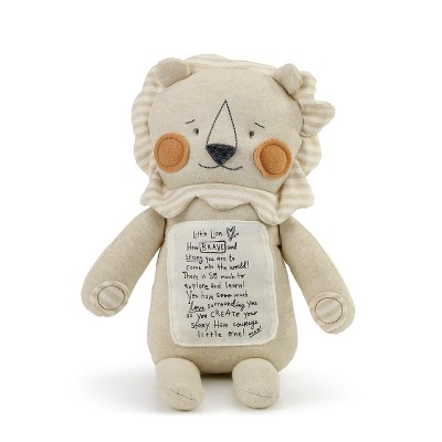 DEMDACO Noah's Ark Brave Little Lion 16 inch - Brown