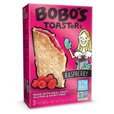 Bobo's Gluten Free Raspberry Toaster Pastries 3ct - 6.6oz