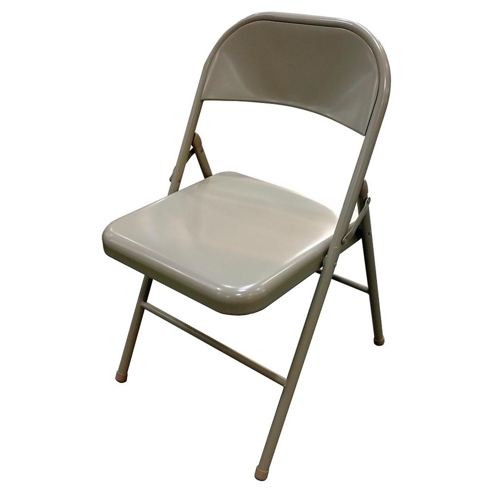 Astonishing Upc 858790005732 Metal Folding Chair Taupe Plastic Dev Pdpeps Interior Chair Design Pdpepsorg