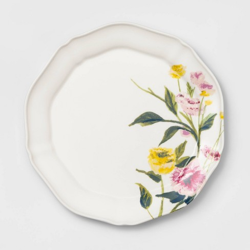 "9"" Melamine Floral Salad Plate - Threshold™ - image 1 of 2"