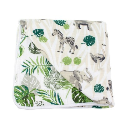 Bebe au Lait Muslin Snuggle Blanket Rainforest - Jungle
