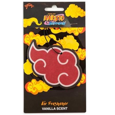 Just Funky Naruto Akatsuki Red Rain Cloud Hanging Car Air Freshener | Vanilla Scented