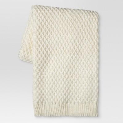 Cream Sweater Knit Throw Blanket (50 x60 )- Threshold™