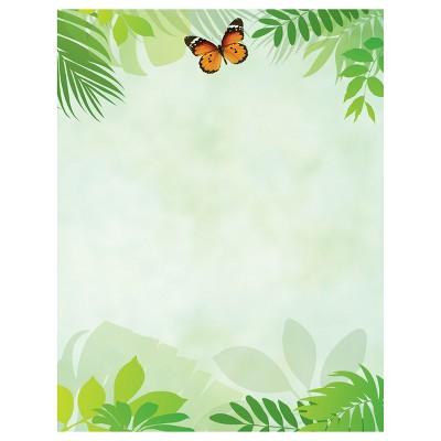 Flutter Butterfly Pattern Letterhead