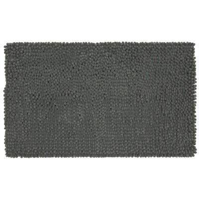 20 x34  Chunky Chenille Memory Foam Bath Rugs & Mats Pigeon Gray - Room Essentials™