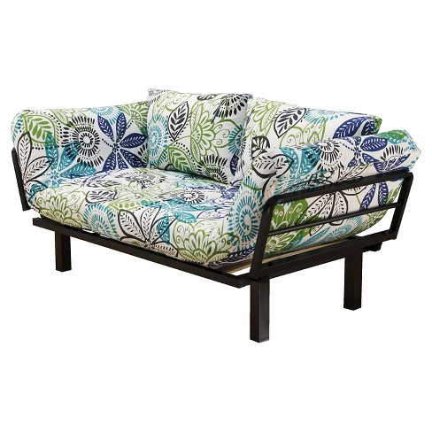 Spacely Metal Futon Lounger - Black - Christopher Knight Home - image 1 of 3