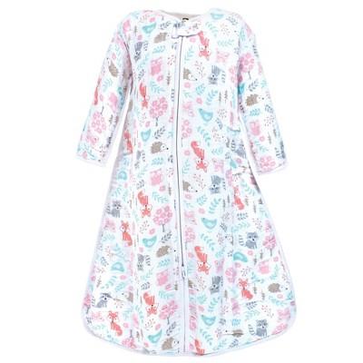 Hudson Baby Infant Girl Long Sleeve Muslin Sleeping Bag, Wearable Blanket, Sleep Sack, Woodland Fox