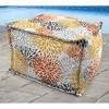 Outdoor Bean Filled Pouf/Ottoman In Blooms Citrus - Jordan Manufacturing - image 3 of 3