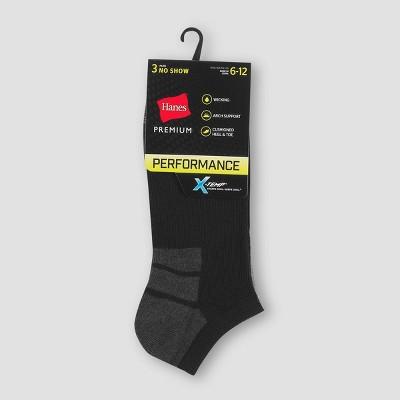 Men's Hanes Premium Performance No Show Socks 3pk - 6-12