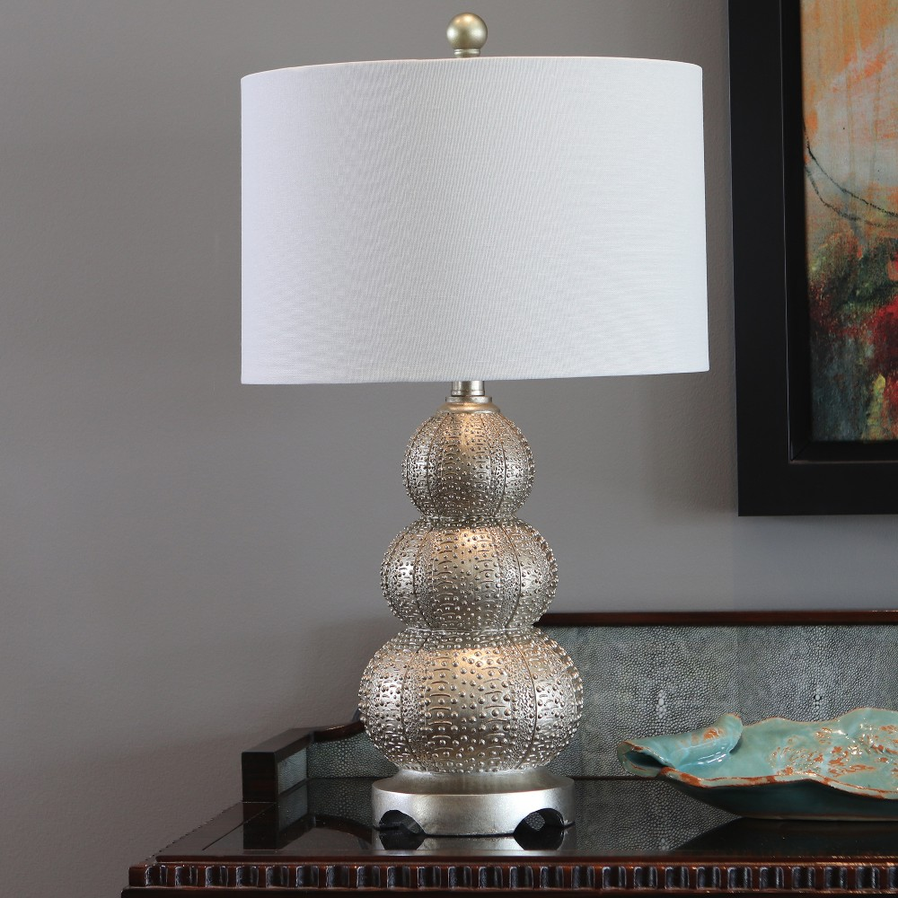 Marin Triple Tier Urchin Table Lamp Silver - Decor Therapy
