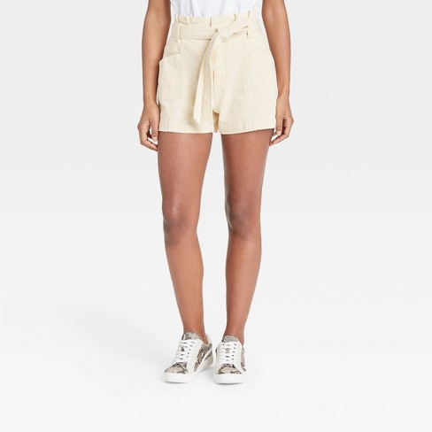 Women's High-Rise Paperbag Shorts - Universal Thread™ - image 1 of 3