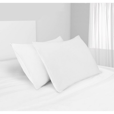 2pk 300 Thread Count Naturally Cool Pillow Protector with Zipper - Beautyrest