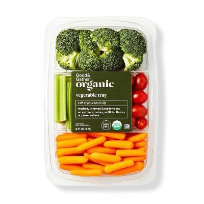 Organic Vegetable Tray with Organic Ranch - 16oz - Good & Gather™