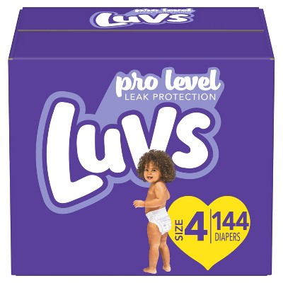 Luvs Pro Level Leak Protection Diapers Giant Pack - Size 4 - 144ct