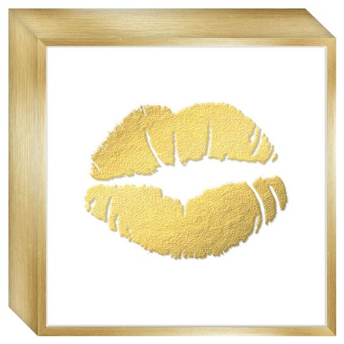 Framed Rose Gold Lips Framed wall canvas - Threshold™ - image 1 of 4
