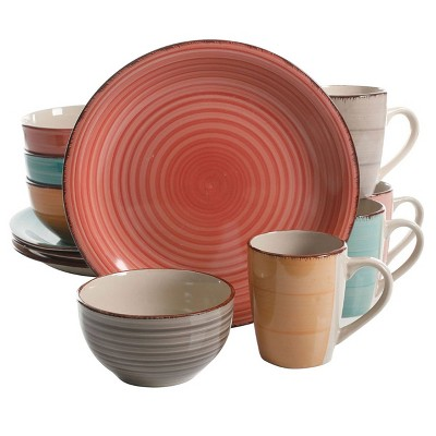 Gibson Home 12pc Stoneware Color Vibes Dinnerware Set