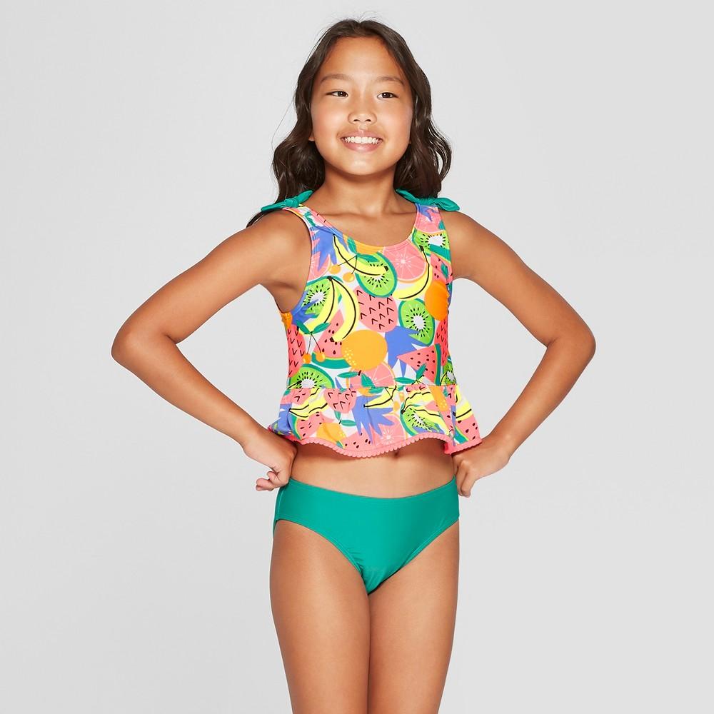 Plus Size Girls' Summer Time Sweet Tankini Set - Cat & Jack XL Plus, Blue