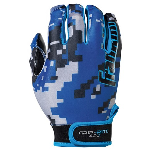 Franklin Sports Youth Grip-Rite® 400 Football Receiver Gloves Medium / Large - Blue/Black - image 1 of 3