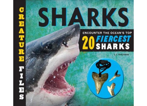 Creature Files Sharks : Encounter the Ocean's Top 20 Fiercest Sharks -  by L. J. Tracosas (Hardcover) - image 1 of 1