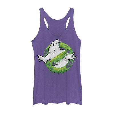 Women's Ghostbusters Slime Logo Racerback Tank Top