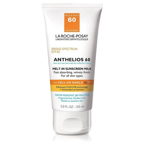 La Roche Posay Anthelios Face and Body Sunscreen Melt-In Milk Lotion SPF 60 - 5oz - image 1 of 4