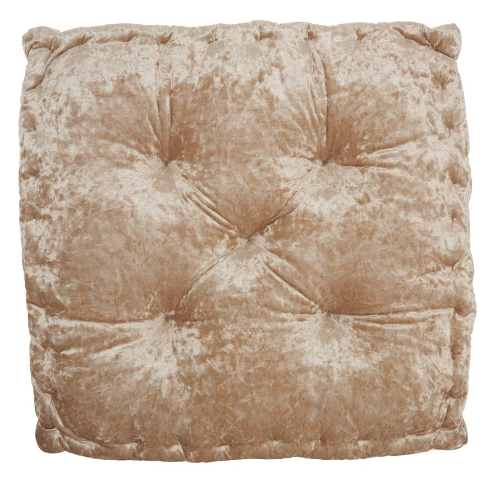 "Image of ""24""""x24""""x4"""" Life Styles Booster Seat Cushion Floor Pillow Beige - Mina Victory"""