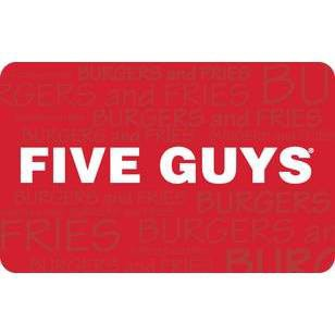 Five Guys Gift Card $15 (Email Delivery)