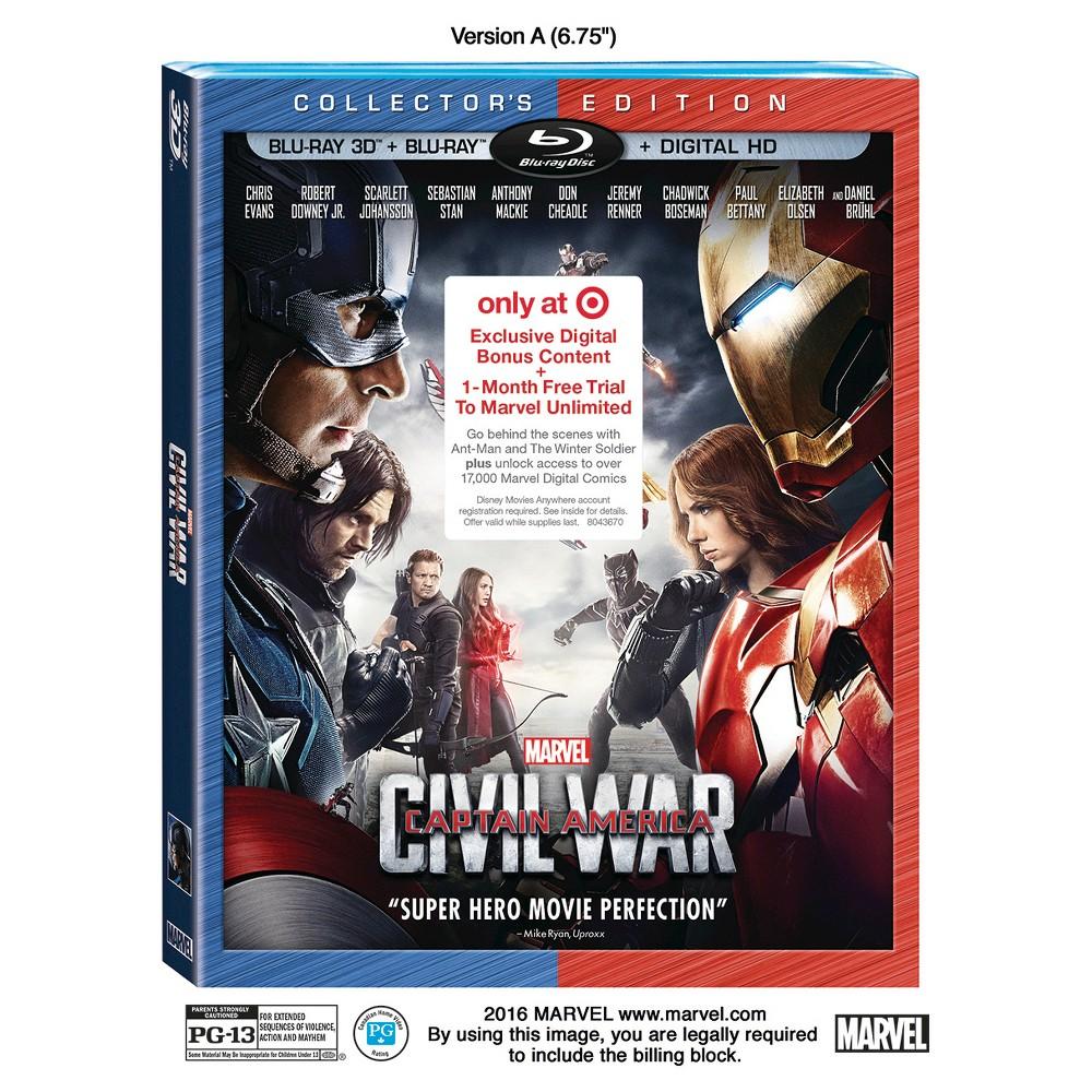 Marvel's Captain America: Civil War (Target Exclusive 3D/Blu-ray+ Digital HD)