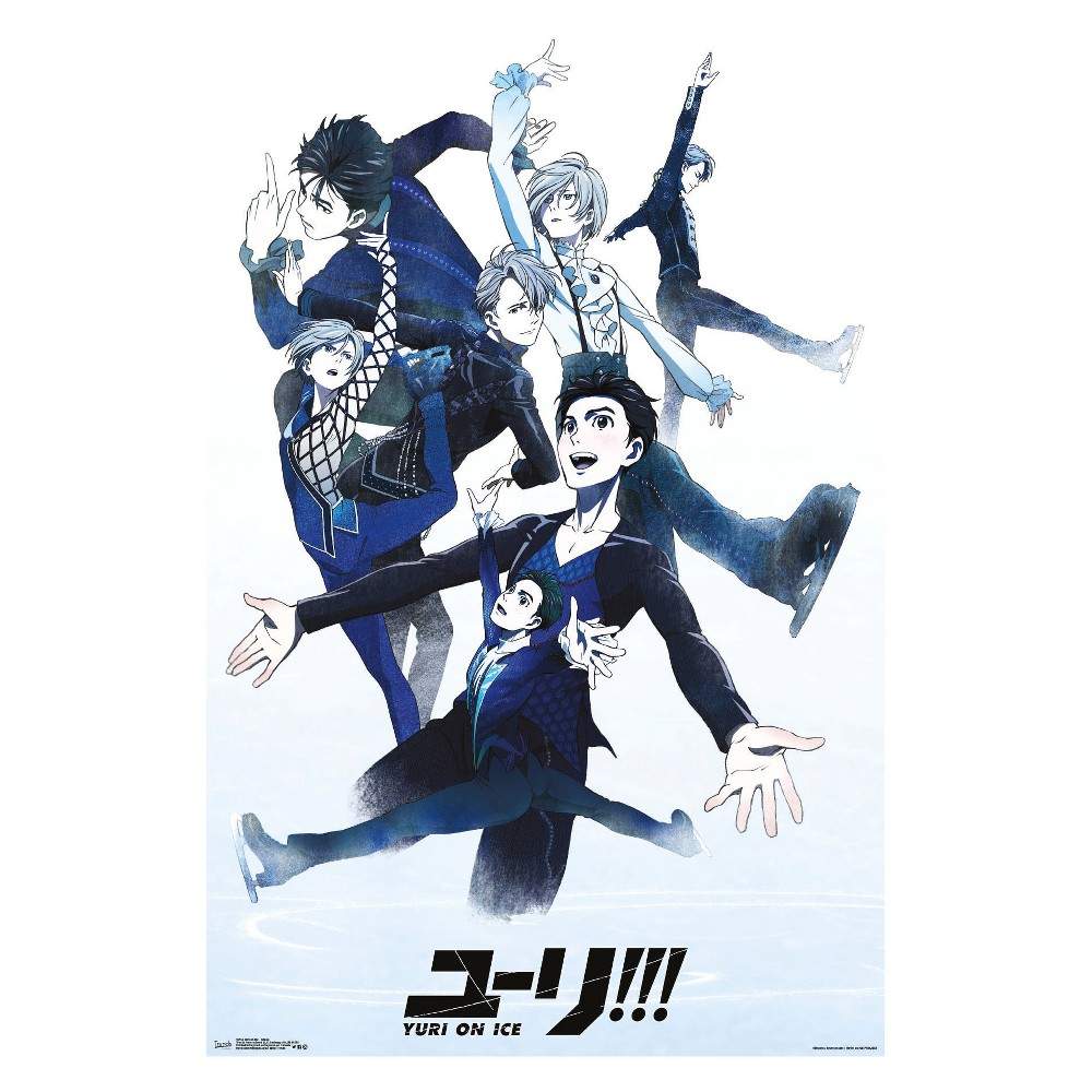 "Image of ""Yuri On Ice Group Unframed Wall Poster Print 34"""" x 22"""" - Trends International, Multi-Colored"""