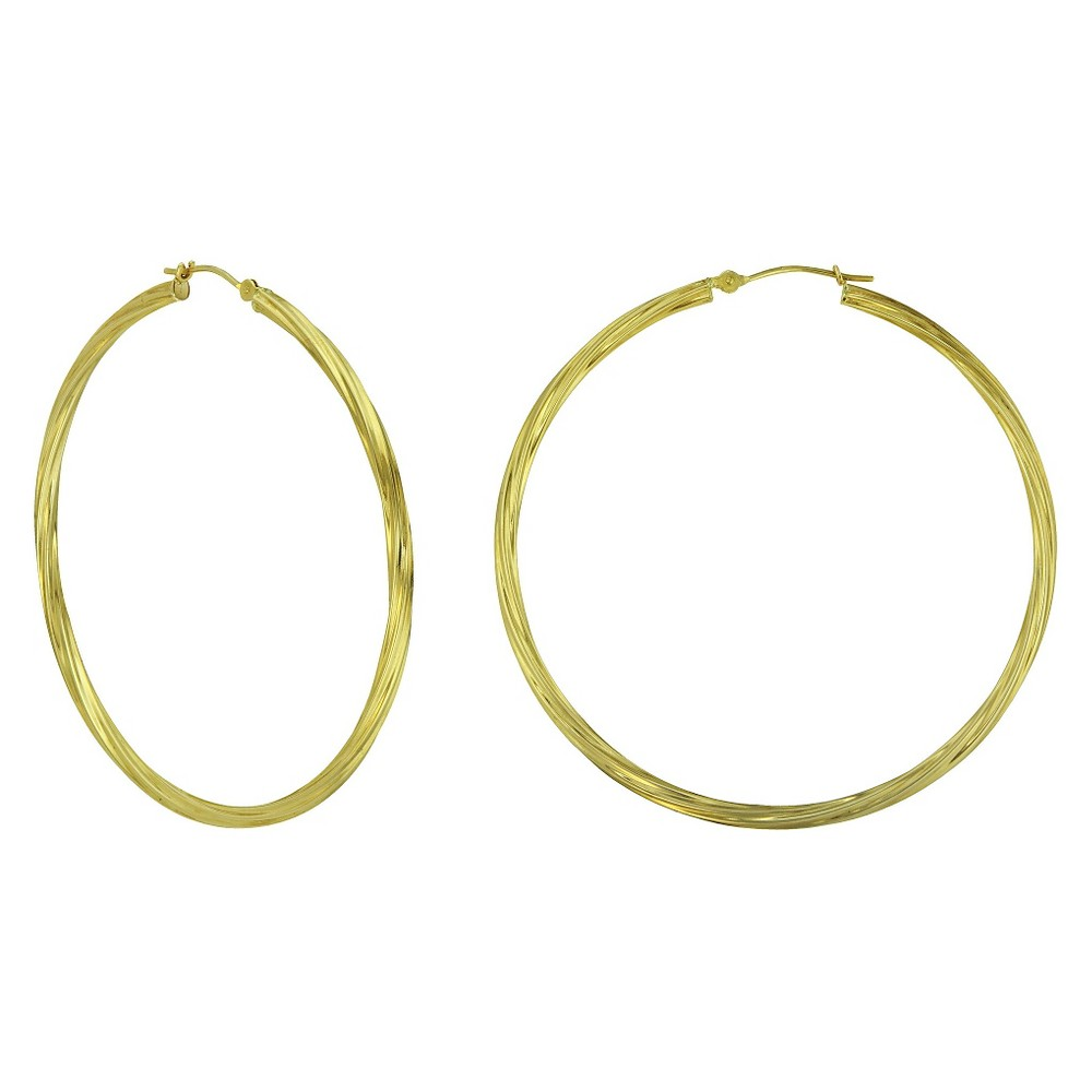 Target Women's Gold Plated Twisted Hoop