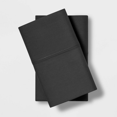 Standard Temperature Balancing Solid Pillowcase Set Charcoal - Made By Design™