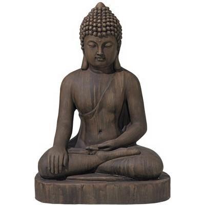 "John Timberland Asian Zen Buddha Outdoor Statue 29 1/2"" High Sitting for Yard Garden Patio Deck Home Entryway Hallway"