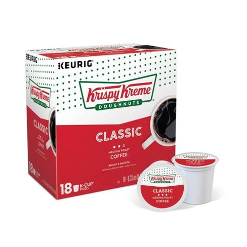 Krispy Kreme Doughnuts Classic Medium Roast Coffee - Keurig K-Cup Pods - 18ct - image 1 of 4