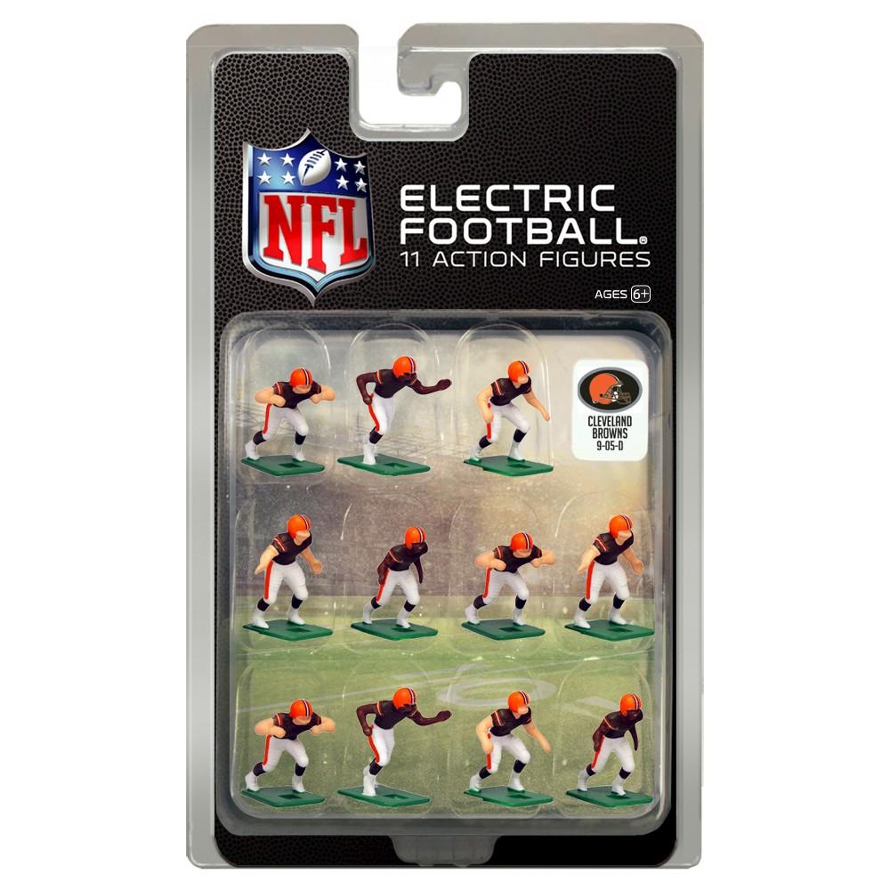 Nfl Cleveland Browns Tudor Games Home Uniform Electric Football Action Figure Set