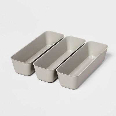 3pk Long Storage Trays Gray Mist - Room Essentials™