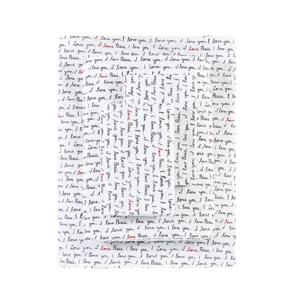 Queen Printed Pattern Percale Sheet Set Love Ed Ellen Degeneres