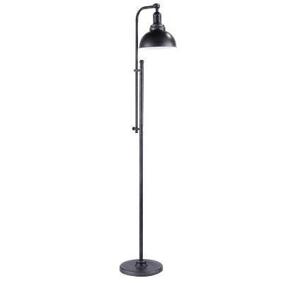 "53-66"" Emery Floor Lamp Antique Silver - LumiSource"