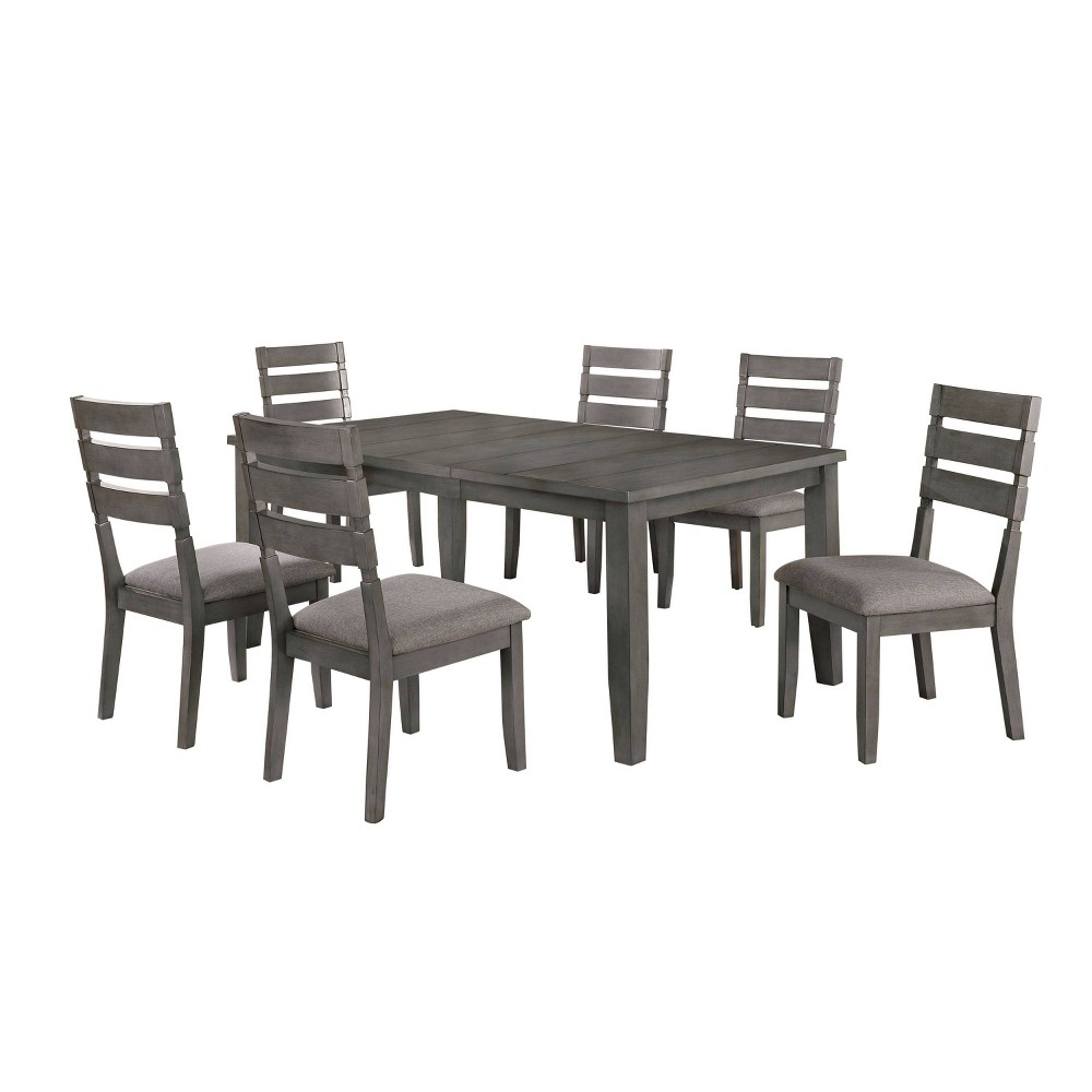 """Discounts 72"""" 7pc Ainsworth Dining Set Light Gray - HOMES: Inside + Out"""