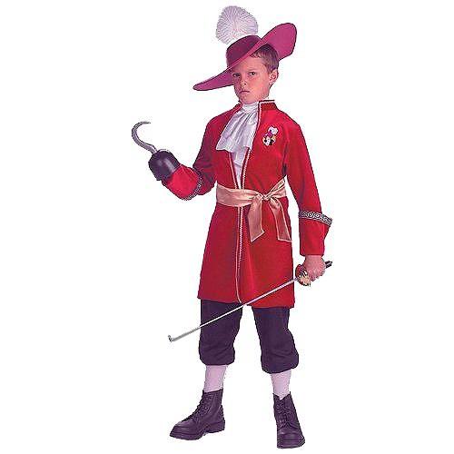 Halloween Captain Hook Boys' Costume - Medium (7-8), Boy's, Black/Gold/Red